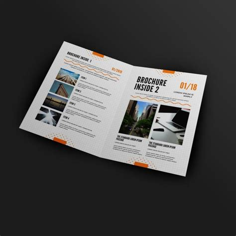 A4 Size Half Fold Brochure Inside Mockup Template For Free Download On Pngtree Half Fold Brochure Template Powerpoint