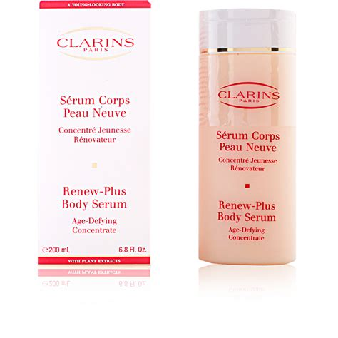 Serum Clarins clarins cosmetics serum corps peau neuve products
