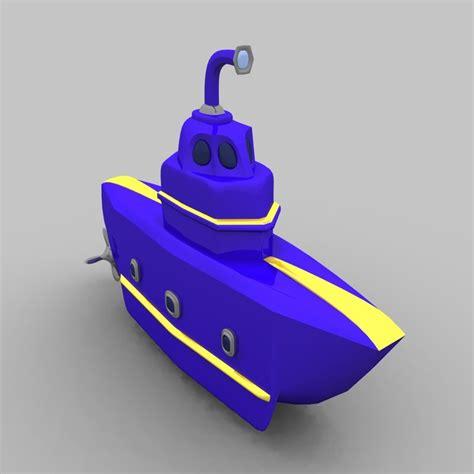 toy boat obj toy submarine obj free