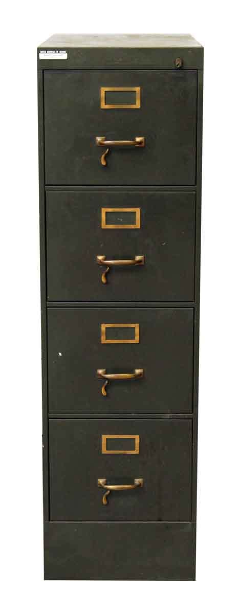Green Filing Cabinet Four Drawer Metal Green Filing Cabinet Olde Things