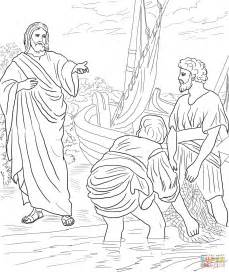 coloring pages of jesus and his disciples jesus calls the disciples coloring page free