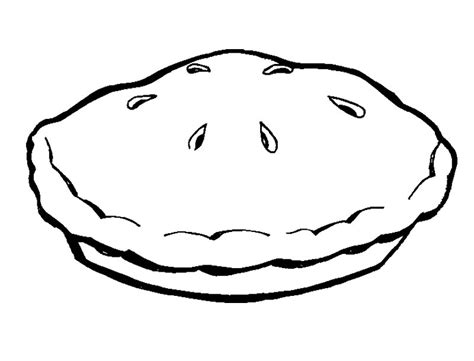 coloring picture of pie clipart best