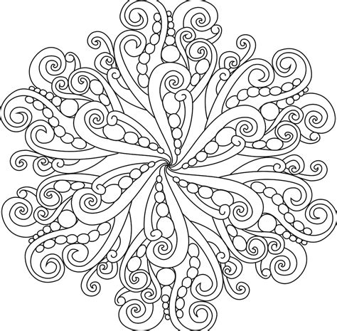 Advanced Mandalas Coloring Pages Round Shape Unique Mandala Printable Adult To Print For Free Colouring Templates For Adults