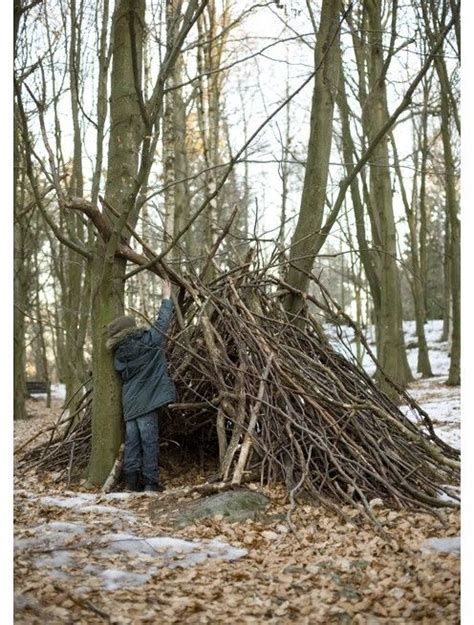 stick twig fort family camping pinterest