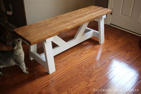 Handmade Woodworking - diy providence bench plans by white handmade with