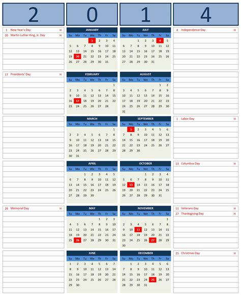 free template for calendar 2014 2014 calendar excel templates