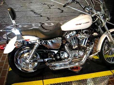 2007 harley davidson sportster custom xl1200c white gold