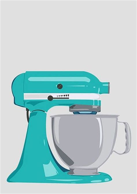 cute mixer themes kitchen aid mixer poster print a3 via etsy cakes and