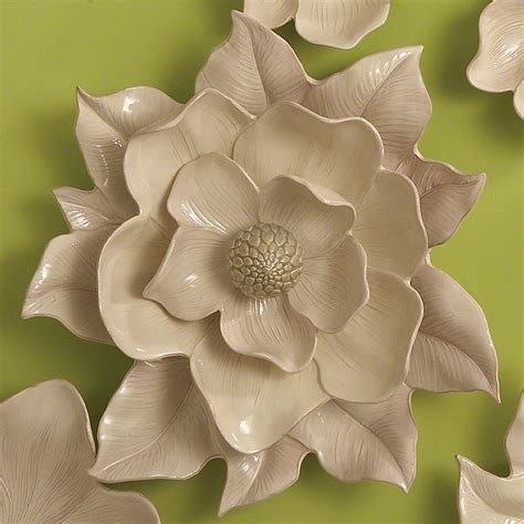 Magnolia Wall Decor by Global Views Magnolia Wall Flower Ivory