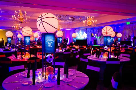 basketball themed events basketball and soccer themed bar mitzvah the celebration