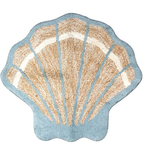 Seashell Bath Rug Coastal Style Decor From Walmart Fox Hollow Cottage
