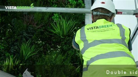 vistagreen vertical garden installation time lapse