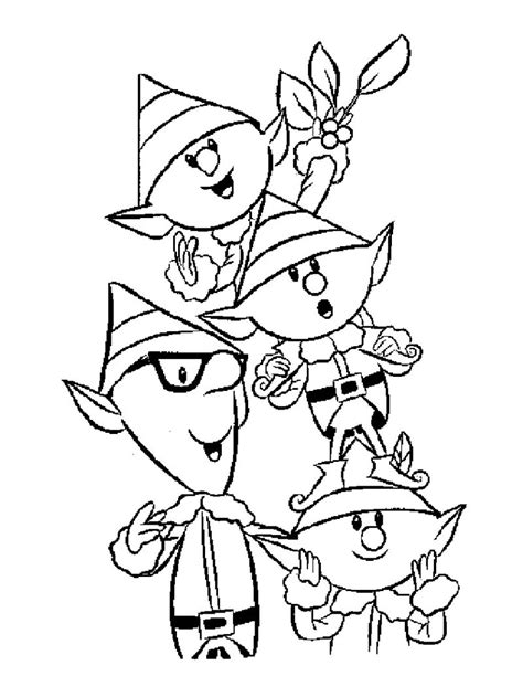 Christmas Elf Coloring Pages Free Elves Coloring Pages