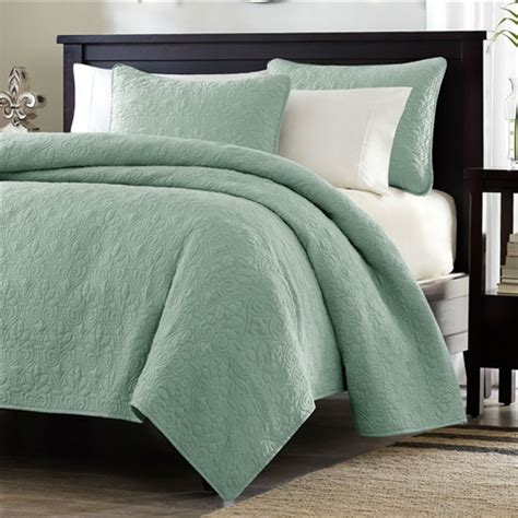 green coverlet king king size seafoam green blue coverlet set with quilted