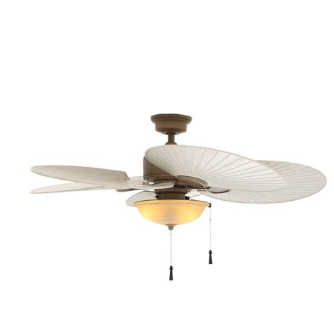 Hton Bay Palm Ceiling Fan by Hton Bay Roanoke 48 In Indoor Outdoor White Ceiling Fan With Light Kit Yg216 Wh The Home Depot