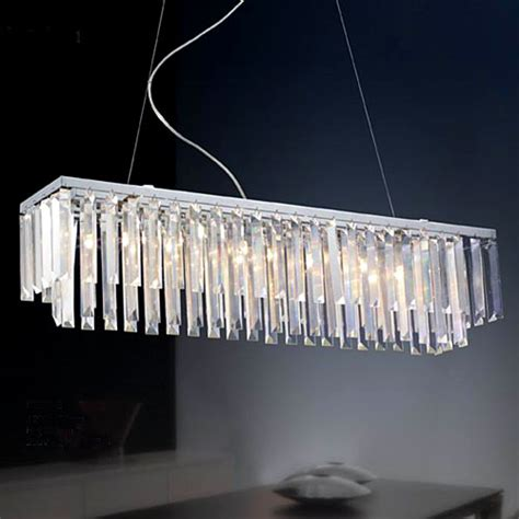 Linear Dining Room Chandeliers New Modern Contemporary Linear Chandelier Chrome Finish 8 Lights Dining Room Ebay