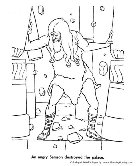 Samson Pillars Coloring Page by Bible Story Characters Coloring Page Sheets Samson