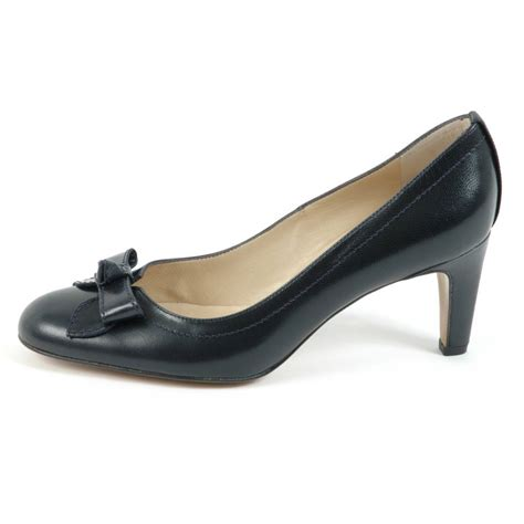 kaiser womens court shoes in navy leather
