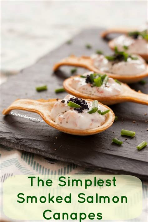 easy smoked salmon canapes recipe simple delicious smoked salmon canap 233 s fuss