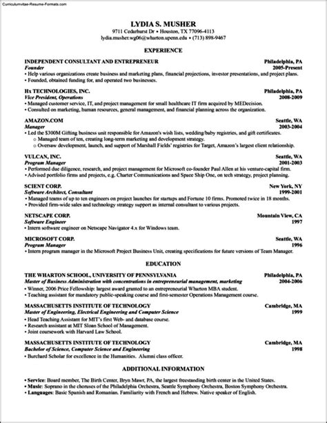 wharton resume template contract word template simple