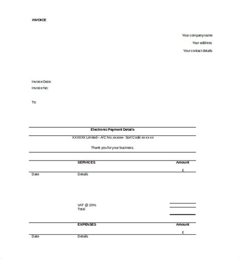 invoice template excel 2003 12 invoice templates free sle exle format
