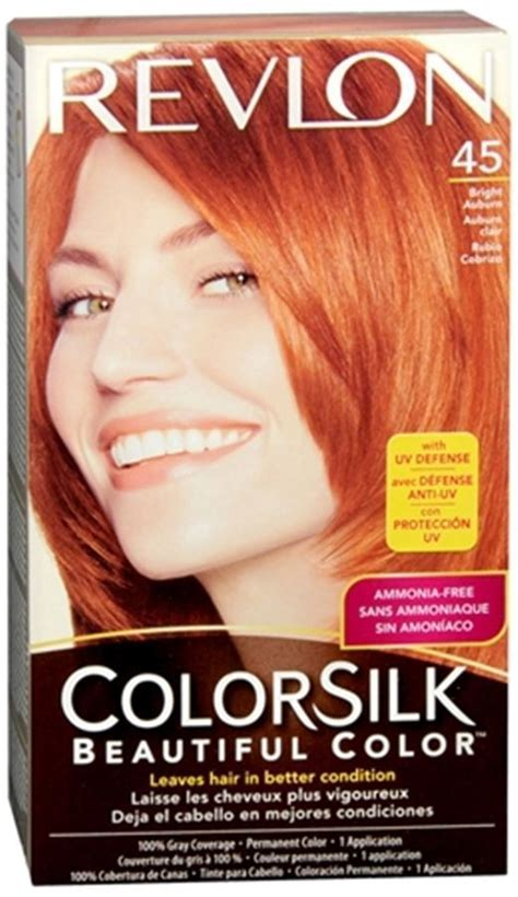 bright auburn hair color revlon colorsilk hair color 45 bright auburn 1 each ebay