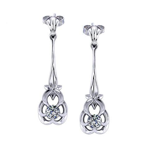 floral drop earrings jewelry designs