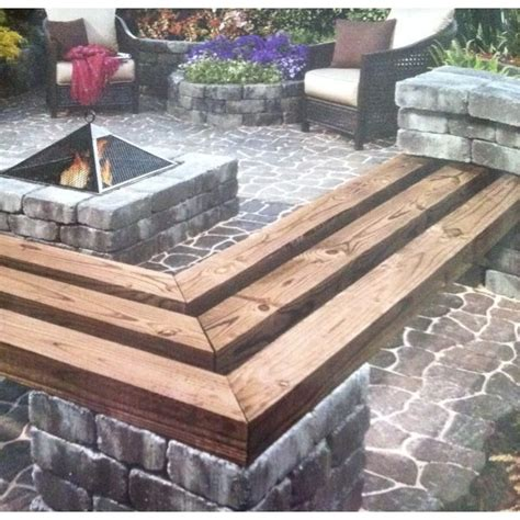 stone   benches fire pit