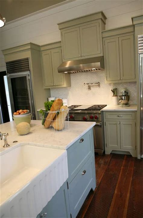 Grey Green Kitchen Cabinets | gray green cabinets cottage kitchen urban grace