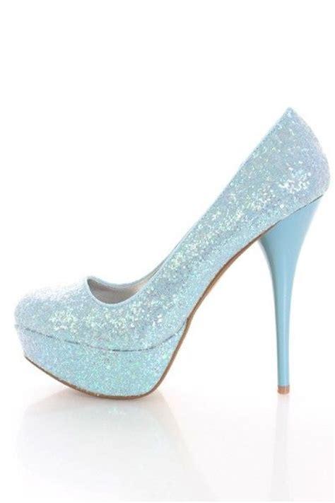 light blue block heels blue glitter light blue and platform pumps on