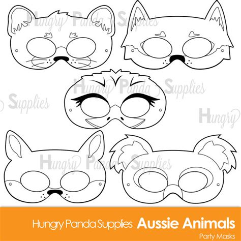 printable animal mask coloring pages australian animals printable coloring masks aussie animal