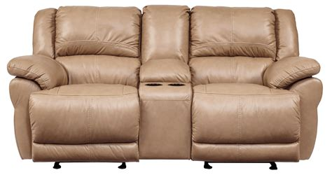 glider sofa lenoris caramel glider power reclining loveseat with