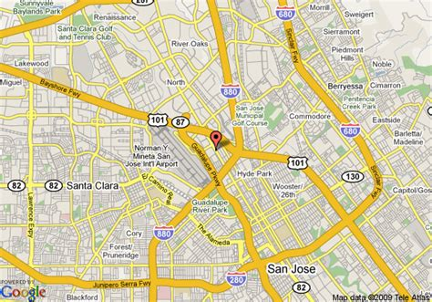 san jose map map of homestead san jose downtown san jose