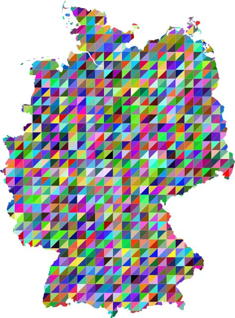Triangl Deutschland by Clipart Prismatic Triangles Germany Map