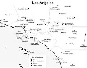 Map Of Los Angeles Airports by Map La Area Airports