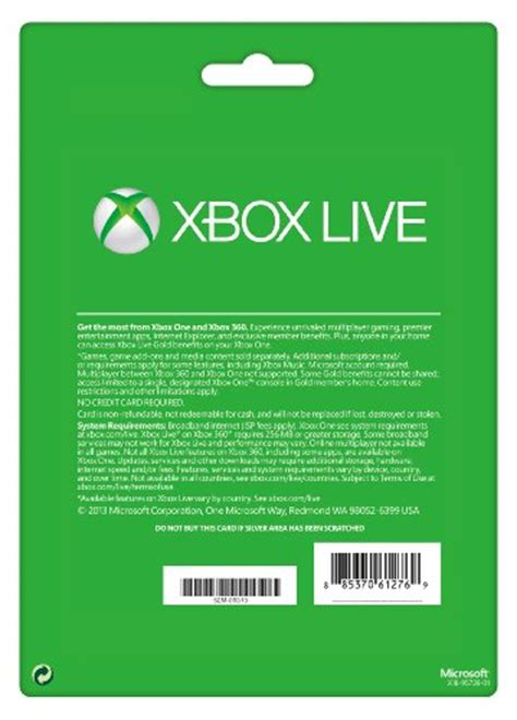 Xbox Live 12 Month Gold Membership Gift Card - xbox live gold 12 month membership card xbox one 360 wholesale scout
