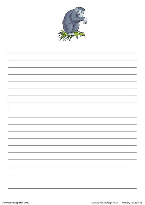 printable animal lined paper animal writing paper 28 images free coloring pages