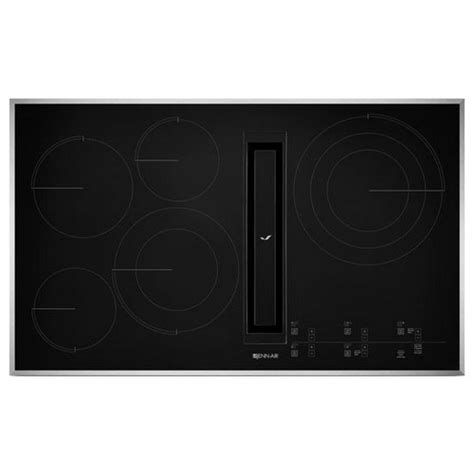 electric cooktop with downdraft jed4536gs jenn air 36 quot downdraft electric cooktop stainless black haywood appliance