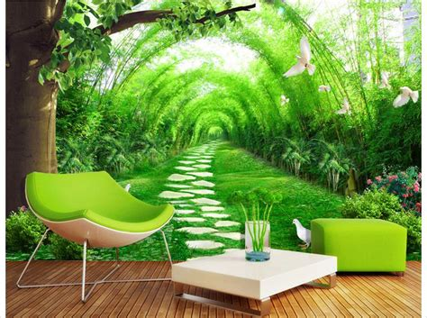 bamboo forest wall mural customized 3d photo wallpaper 3d wall murals wallpaper fresh bamboo forest road 3 d tv setting