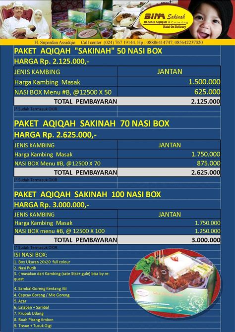 Paket Aqiqah Di Surabaya 1 aqiqah semarang catering semarang aqiqah promo