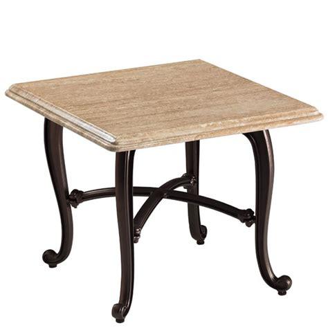 Tropitone 840838swb Natural Stone Tables Travertine End Travertine Patio Table