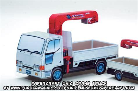 Paper Craft Truck - ninjatoes papercraft weblog papercraft unic crane truck