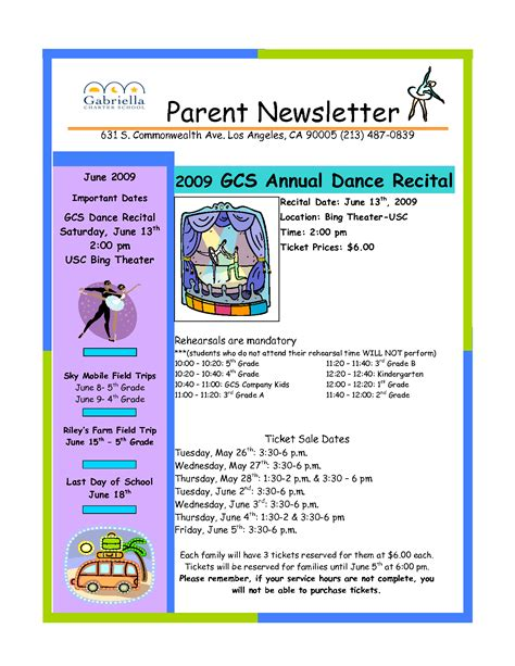 parent newsletter templates best photos of parent newsletter exles sle parent