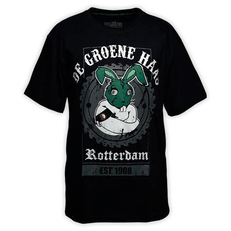 Tshirt Roterdam de groene haas t shirt zwart frfc1908 nl feyenoord fanshop