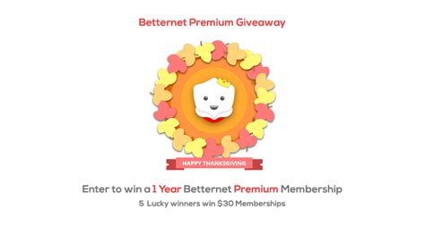 Premium Giveaways - betternet premium giveaway