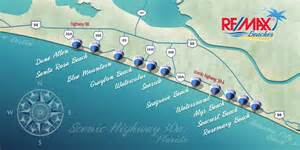 map of 30a florida 30a neighborhoods remaxbeaches30a