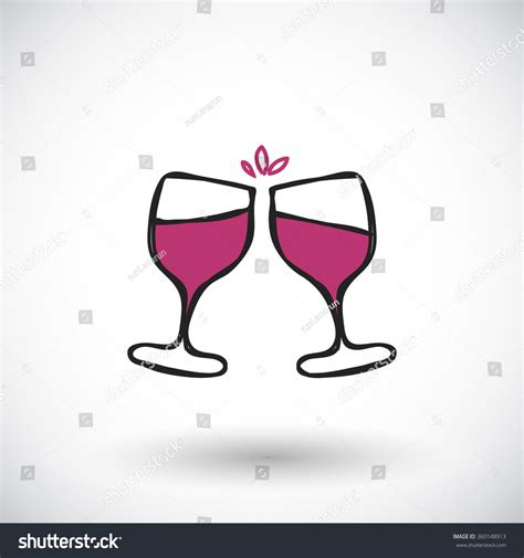 cartoon wine glass cheers wine glasses sketch handdrawn cartoon wine stock vector
