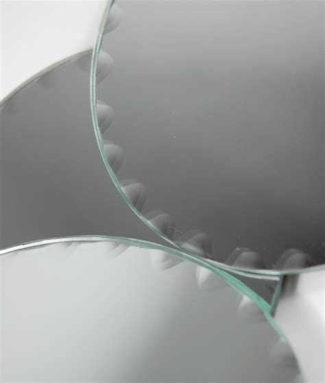 mirrors for centerpieces mirrors with scalloped edges 5in set of 6