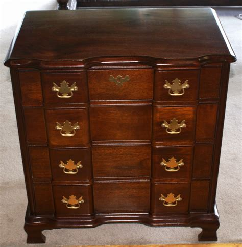 Bachelor Dresser by Block Front Chippendale Bachelors Chest