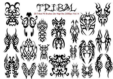 tribal pattern brush photoshop 20 tribal ps brushes vol 14 decorative photoshop brushes